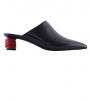 "Giày nữ Balenciaga Women""s Black Calf Leather Slippers"