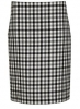 "Váy len Balenciaga Women""s 517930Tau021070 White/Black Wool Skirt"